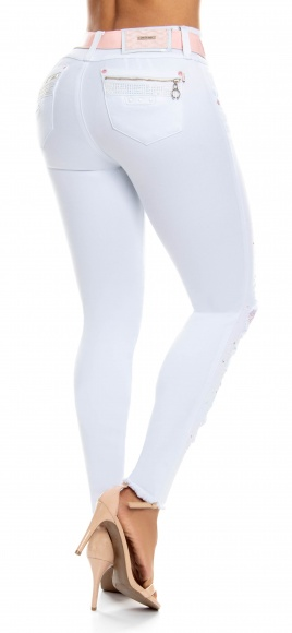 Jeans levanta cola WOW 86445 Blanco