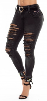 Jeans levanta cola WOW 86497 Azul
