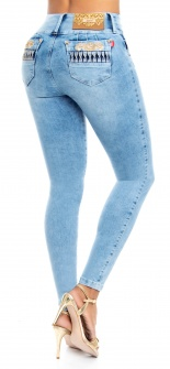 Jeans levanta cola WOW 86499 Azul