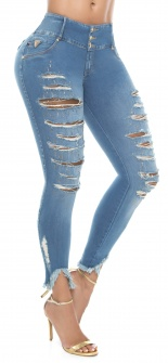 Jeans levanta cola WOW 86507 Azul