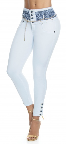 Jeans levanta cola WOW 86527 Azul