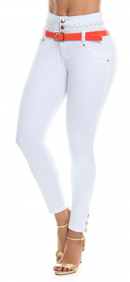 Jeans levanta cola WOW 86508 Blanco
