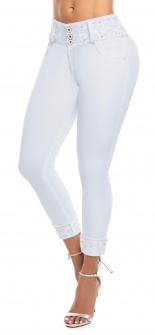 Jeans levanta cola WOW 86559 Blanco