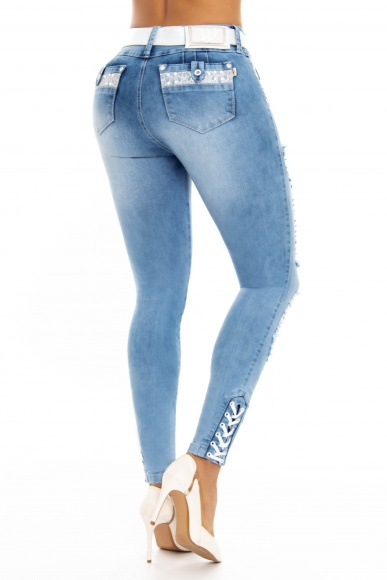 Jeans levanta cola WOW 86488 Azul