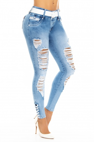 Jeans levanta cola WOW 86531 Azul