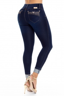Jeans levanta cola WOW 86567 Azul