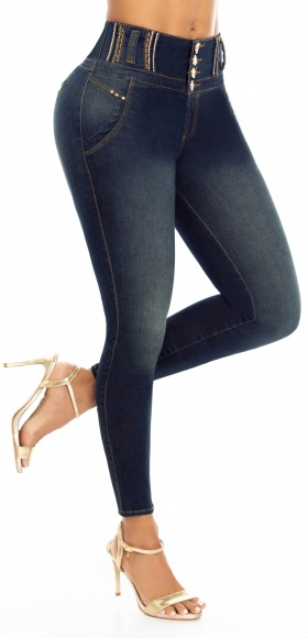 Jeans levanta cola WOW 86558 Blanco