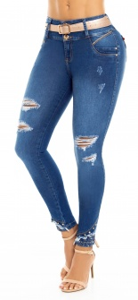 Jeans levanta cola WOW 86571 Azul