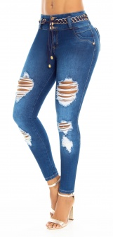 Jeans levanta cola WOW 86586 Blanco